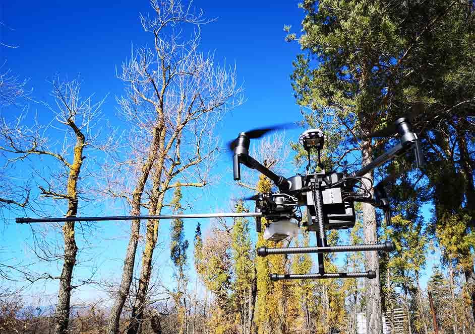 drone FitoStinger de lucha contra la procesionaria del pino