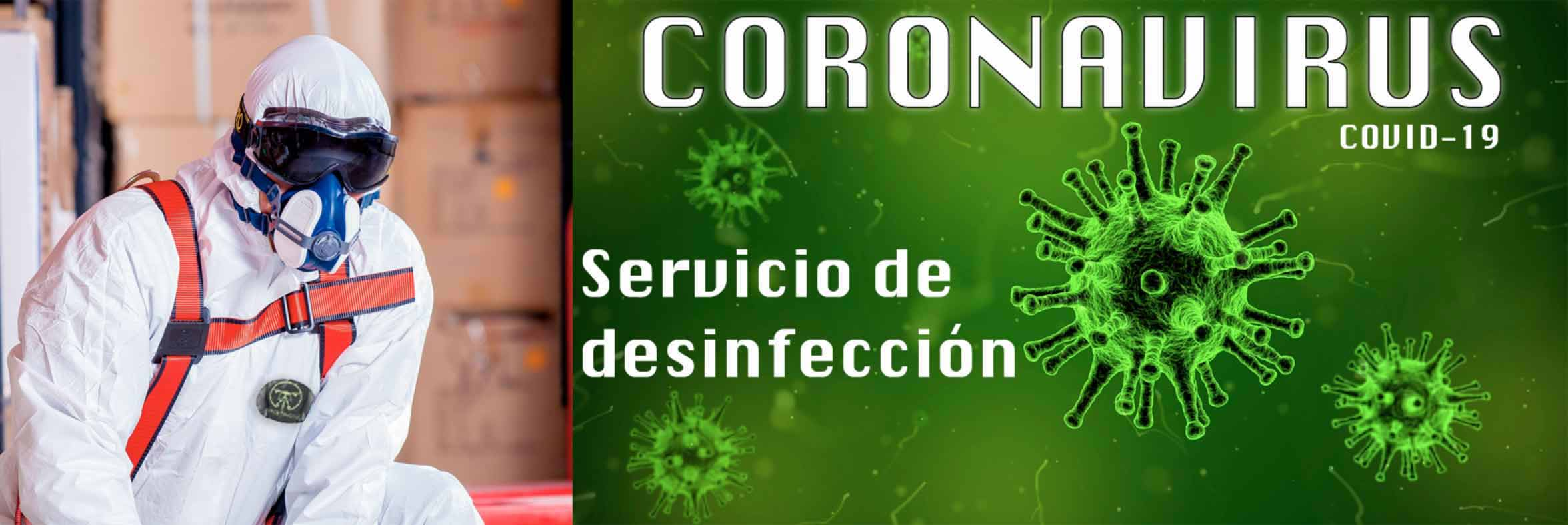 Image of the disinfection service of the coronavirus COVID 19